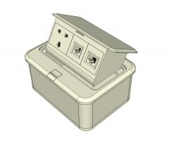 Electrical floor box Sketchup model