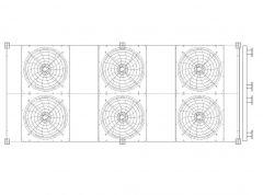 Mechanical Radiator - 6 fan