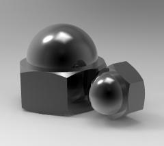 Autodesk Inventor 3D CAD Model of Cap Nut M24H35.5h19