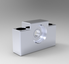 Solid-works 3D CAD Model of Support unit with circlips, Ø=10mmBearing=6000ZZWeight=370