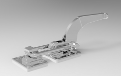 Autodesk Inventor ipt file 3D CAD Model of Tensioner Clamp Model with Holding force 1818 kgf