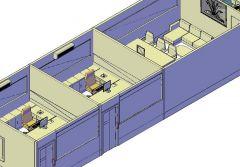 Espacio de oficina de planificación 3D DWG