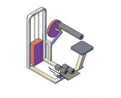 Gym equipment - Ab bench 3d dwg