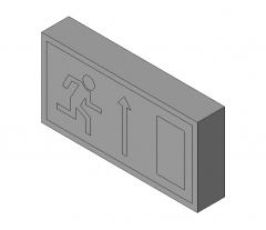 Fire Exit Sign Revit model