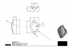 Autodesk Inventor 2D CAD drawing  for practice 32