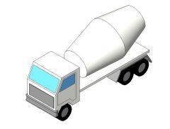 Concrete Truck Revit Family