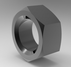 Autodesk Inventor 3D CAD Model of Compact Nut M8,T5