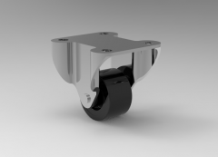 """Fusion 360 (step file) 3D CAD Model of Mini Duty Wheel, Size 1"""" Weight 25(kg)"""