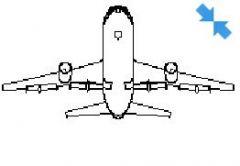 Boeing in perspective view dwg model