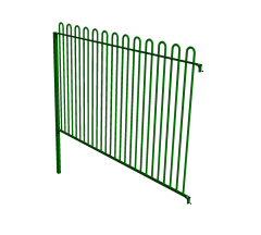 Bow top fence Sketchup model
