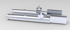 Solid-works 3D CAD Model of  Air hydraulic drilling unit, Max Torque=  4.3 Nm