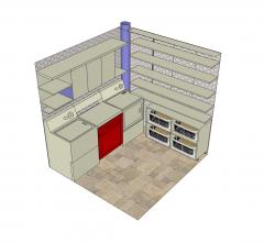 Modello di sala da pranzo design modello di Sketchup
