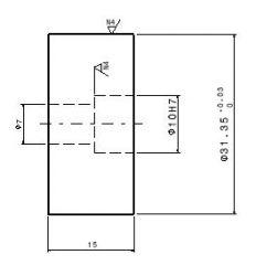 343 Pin dwg. disegno