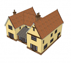 Country house design Sketchup model