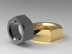 Autodesk Inventor 3D CAD Model of Compact Nut M12, T7
