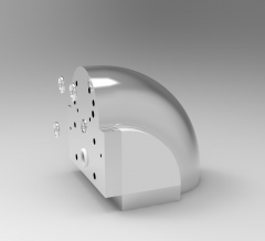 Solid-works 3D CAD Model of Interface, ANGLE=+45°Weight=500g