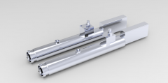 Solid-works 3D CAD Model of Air hydraulic drilling unit, Max Torque=  2.4 Nm