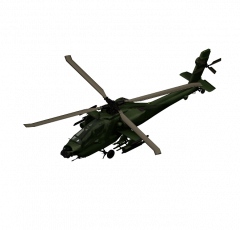 Apache helicopter 3DS Max model