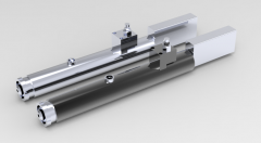 Solid-works 3D CAD Model of  Air hydraulic drilling unit, Max Torque=  1.5 Nm