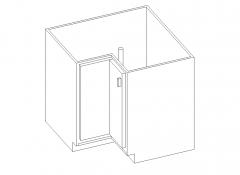 Lazy Susan Base Corner Cabinet with 1 rotating shelf Revit Family
