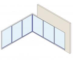 modèle d'angle Stacking Door Revit