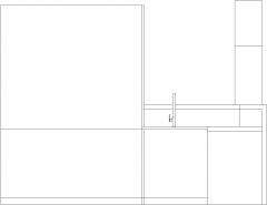 3796mm Wide Bar Counter with Shelves and Faucet Rear Elevation dwg Drawing