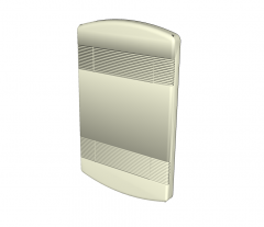 Electric wall heater Sketchup model
