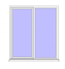 Double Window Plain Revit Family