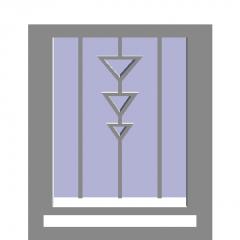 Casement window (inside casement, bottom-hung window) revit family