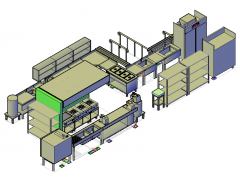 Commercial Kitchen design 3D CAD drawing