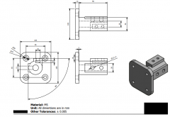 Autodesk Inventor 2D CAD drawing  for student practice 39