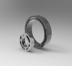 Autodesk Inventor 3D CAD Model of Freewheel with cage, Torque (N.m)310
