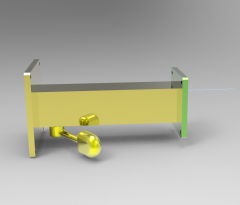 Solid-works 3D CAD Model of Manual & Hydraulic Lifting Modules, LIFTING F=225TORQUE MAX=100ORQUE MIN=50      STROKE=400
