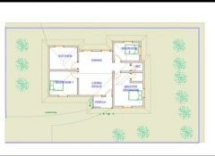 3 Bedroom House Plan DWG