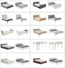 Beds 3DS Max models collection