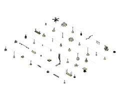 3D Ceiling lights collection DWG blocks
