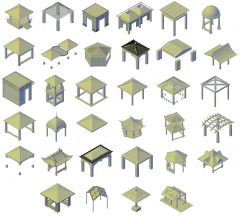 3D Gazebo CAD collection dwg