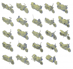 3D Motorbike CAD collection