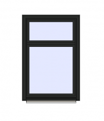 Single Window with Top Opining Revit Family