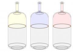 Bicolors Bottles Revit Family