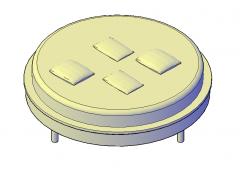 Circular Bed 3D CAD dwg