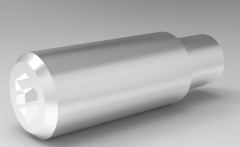 Autodesk Inventor 3D CAD Model of Screw with Convex Head  M 40-10