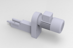 Solid-works 3D CAD Model of power tools for CNC Drilling, Motor speed=2900, Spindle speed= 10270, stroke = 0