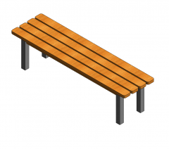 Changing room bench revit family