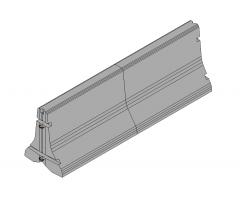 Concrete road barrier Revit model