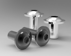 Autodesk Inventor 3D CAD Model of Fillister screws M5x10