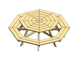 Octagonal Picnic Table Revit Family