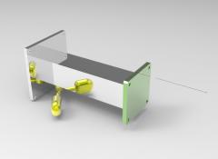 Solid-works 3D CAD Model of Manual & Hydraulic Lifting Modules, LIFTING F=225TORQUE MAX=100ORQUE MIN=50STROKE=600