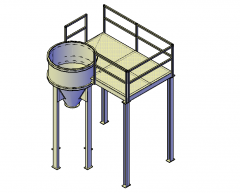 Scaffolding with chute 3d dwg