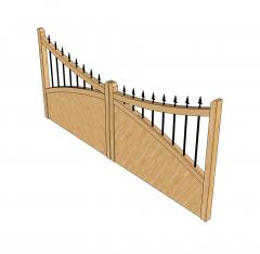 Modello di Sketchup del cancello carrabile